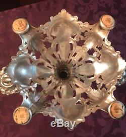 Reed & Barton Plaque Argent Vintage Paire Renaissance # 800 Candelabra 3 Lumieres 1933