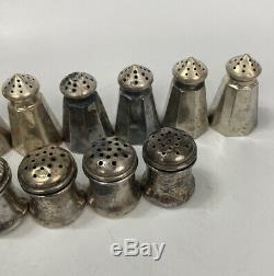 Sel Vintage Miniature En Argent Sterling Poivrière Set 15pcs, 7 Paires