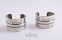 Siwa Vintage Egyptien Argent Gypsy Berber Bédouine Bracelets Manchette Paire