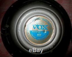 Super Beatle Vintage 1967 Vox / Jennings / Jmi / Celestion Argent Cloche 12 Paires