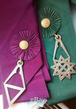 Superb Paire De Vintage Silver Cordon Sash Bijoux Royal Order Of Scotland Vgc
