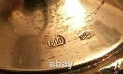 Superbe Vintage Paire Gilt Silver Malachite Cinq Lumières Candelabra Rare
