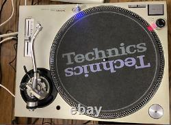 Technics Sl1200-mk3d × 2 Paire De Tourne-disques Dj Silver Direct Player Vintage Rare