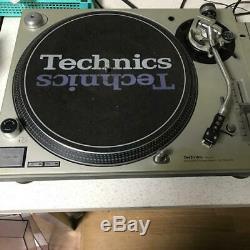 Technics Sl-1200 Mk3d Argent Paire Direct Drive Dj Turntable Vintage Rs