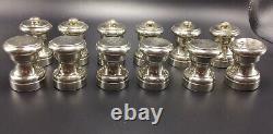 Tiffany & Co Vintage 6 Paires Sterling Silver Salt Shakers & Pepper Grinders Tiffany & Co Vintage 6 Paires Sterling Silver Salt Shakers & Pepper Grinders Tiffany & Co Vintage 6 Paires Sterling Silver Salt Shakers & Pepper Grind
