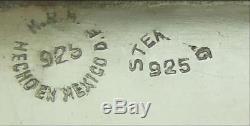 Une Paire De Gros Candélabres En Argent Pur, Étourdissants Et Étincelants C1960 35 Oz