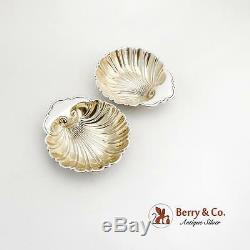 Vaisselle Vintage Shell Paire Gilt Intérieur Gorham Sterling Argent