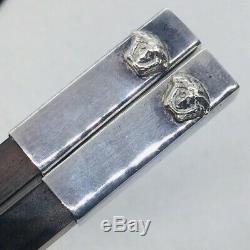 Versace Rosenthal Vintage En Argent Sterling Paire Chopsticks