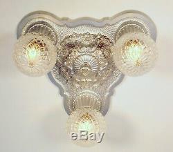 Victorien Art Déco Plafond Luminaire De Paire Disponible Vintage 1920 Restaurer