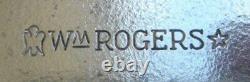 Vieille Paire De Candelabra, 3 Branches Par Wm. Rogers, #16 Cent Baroque Plaque D'argent