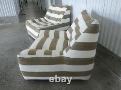 Vieille Paire De Superbes Chaises De Style Italien Design Lounge De Qualité