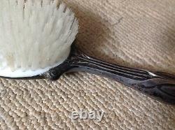 Vieille Paire Sterling Silver Art Decopoppymirror&brush Vintage Antique Set=2 R. E. M