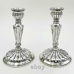 Vieilles Pêches Espagnoles Pêches Sterling Silver Filled Candlesticks 1966/67 Bishtons