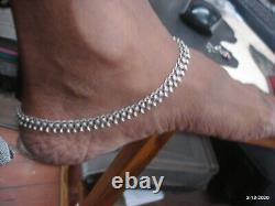 Vintage Antique Tribal Vieux Argent Cheville Paire Pieds Bracelet Chaîne De Cheville