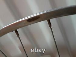 Vintage Araya 27 X 1-1/4 Chrome Wheelset Paire 5 Roues De Jantes De Vélo De Route De Vitesse
