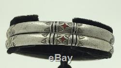 Vintage Argent Marocain Bracelets Paire Sahara Berbère Touareg Désert Ethnique Tribal