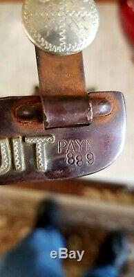 Vintage Argent Monté Deux Éperon Par Le Célèbre Fabricant Du Texas Jeff Payne Cowboy