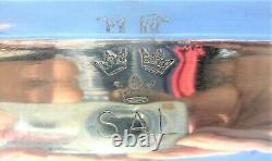 Vintage Argent Plaqué Octagonal Paire Platters Gense Extra Suédois American Line
