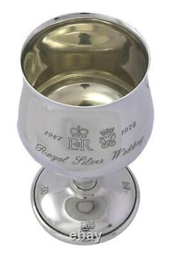 Vintage Argent Sterling Au Cannon Paire Gobelets De Mariage Argent 1972 4.75