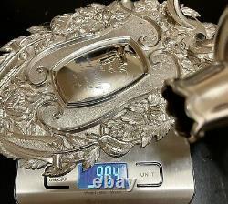 Vintage Aspery Silver Sterling Paire Sconces Murales, Très Rare Et Lourd, Inhabituel
