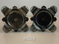 Vintage Barbour Argent Co. Paire De Plaques D'argent Chandeliers 6875