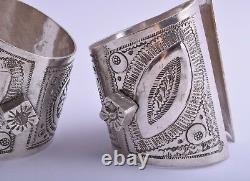 Vintage Berber Bracelet Bédouin Argent Cuff Pair-north African/middle Eastern