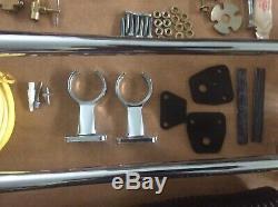 Vintage Chrome Hadley Air Horn Paire / Kit Inutilisé Hadley Ambassador Air Horn Kit