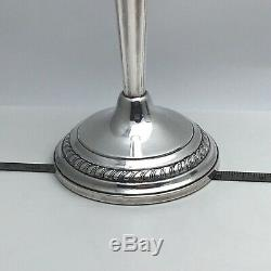 Vintage En Argent Sterling Paire Bougeoirs Superbe Weighted