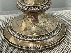 Vintage Fisher Sterling Silver Paire Pondérée De Convertible 3 Arm Candelabras