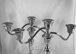 Vintage Gorham Argent Sterling 808/1 Candélabre Bougeoirs Convertible Paire