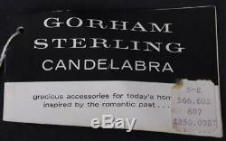 Vintage Gorham Sterling 808 Candelabra, Paire