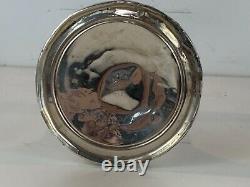 Vintage Hgs Co. Paire De Chandeliers Pondérés En Argent Sterling