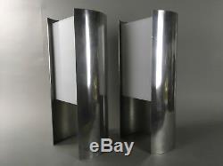 Vintage MID Century Paul Mayen Aluminium Habitat Moderne Lampe De Table Paire