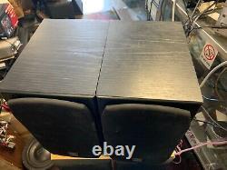 Vintage Monitor Audio Silver S1 Bookshelf Speakers Paire Armoires En Chêne Noir