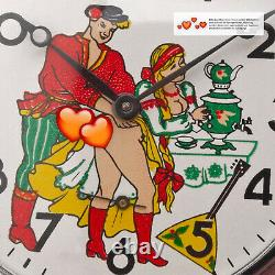 Vintage Montre De Poche Érotique Montre Analogique Loving Couple Molnia 3602 Jl Romantique