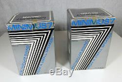 Vintage Nos One Realistic Minimus 7 Haut-parleurs D'étagère Argentés Dans Les Boîtes