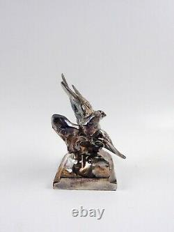 Vintage Pair C. 1930's Bird Swallow Bookends Chrome Ou Silverplate K & O