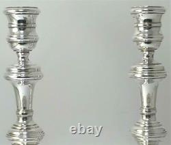 Vintage Pair Of Hallmarked Sterling Silver Candlesticks (6 3/4 Tall) 1977