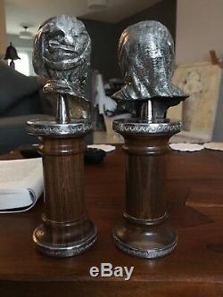 Vintage Paire Camusso Buste Homme Et Femme Perou Argent Sterling Sculpture 8