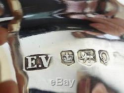 Vintage Paire De Barque À Sauce En Argent Sheffield 1958 E. V. 6.72 Tr Oz 209.2 G C