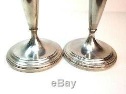 Vintage Paire De Gorham Sterling Argent Bougeoirs
