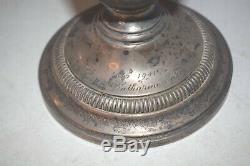 Vintage Paire De L'église En Argent Sterling Autel Vases À Fleurs 13 7/8 Ht. (cu # 906)
