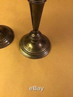 Vintage Paire Gorham 808/1 3-light En Argent Sterling Candélabres Bougeoirs 11.5