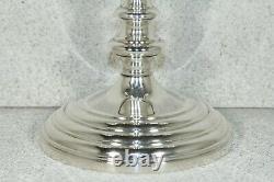 Vintage Paire Gorham Candelabra Trois-légers Puritan Pattern 660 Argent Sterling