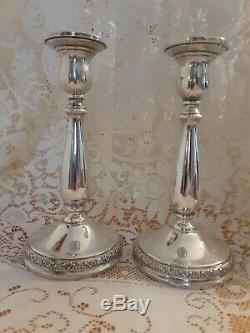 Vintage Paire International Prelude Sterling Silver 7.5 Bougeoirs Pondéré