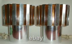 Vintage Paire Retro MID Century Atomic C N Burman 1973 Space Age Lampes En Plastique