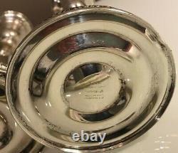 Vintage Paire Sterling Silver International Prelude Chandeliers Candelabra