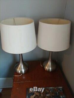 Vintage Retro MID Siècle Moderne Paire Lampe Atomic (2) Avec Des Nuances