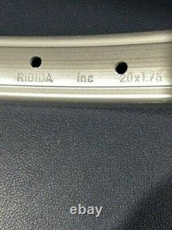 # Vintage Rigida Rim 36 Spoke Silver Vieille École Non Utilisé Paire Bmx MX Rims #10
