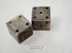 Vintage Set Paire International Sterling Silver Dice